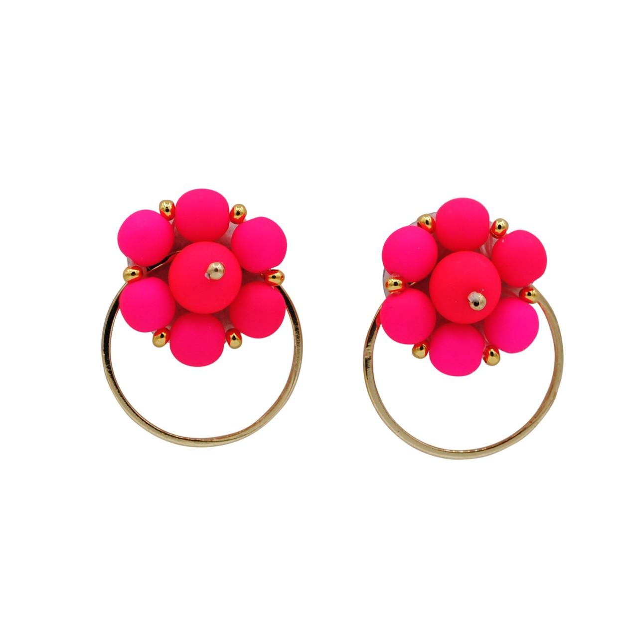 Forever Fiesta Hoop Earrings in Pink