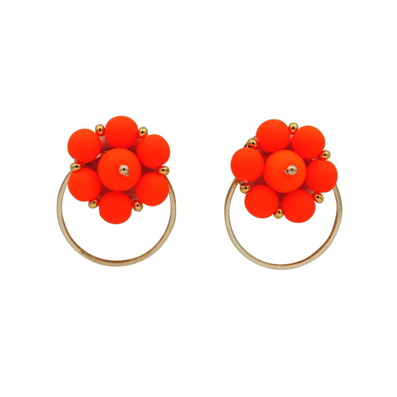 Forever Fiesta Hoop Earrings in Orange