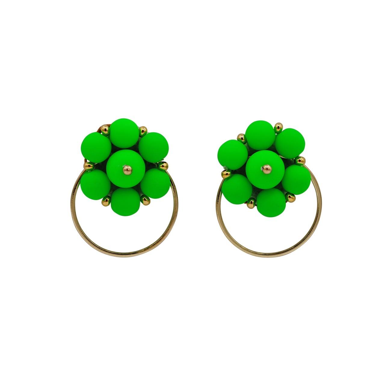 Forever Fiesta Hoop Earrings in Green
