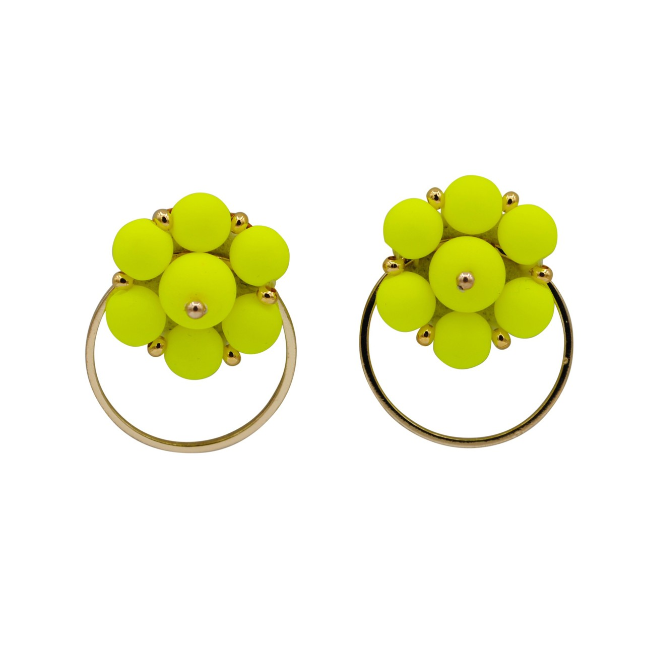 Forever Fiesta Hoop Earrings in Yellow