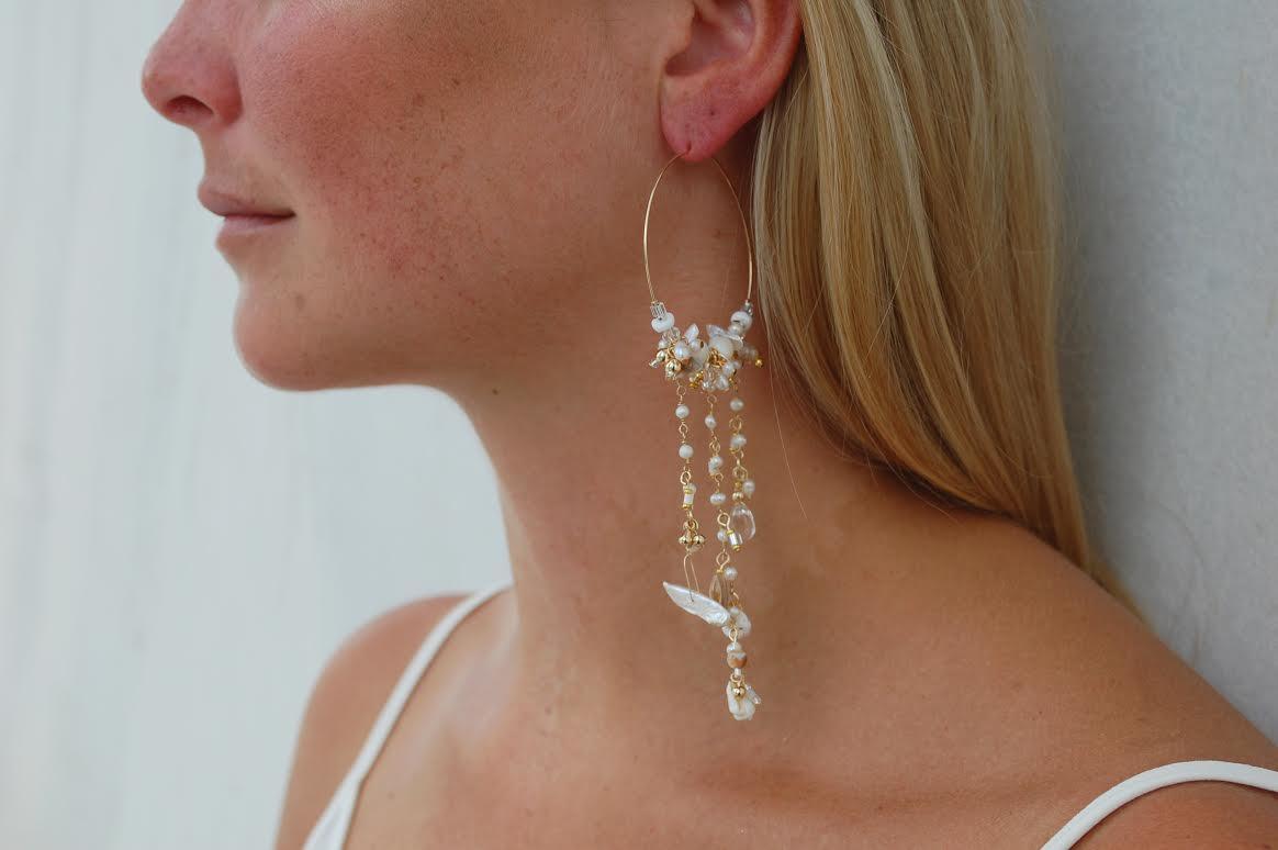 Pearl Festival Hoop Earrings