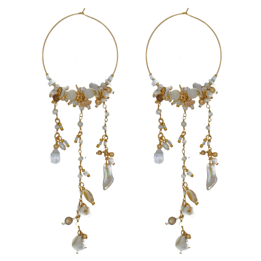 Pearl Festival Hoop Earrings
