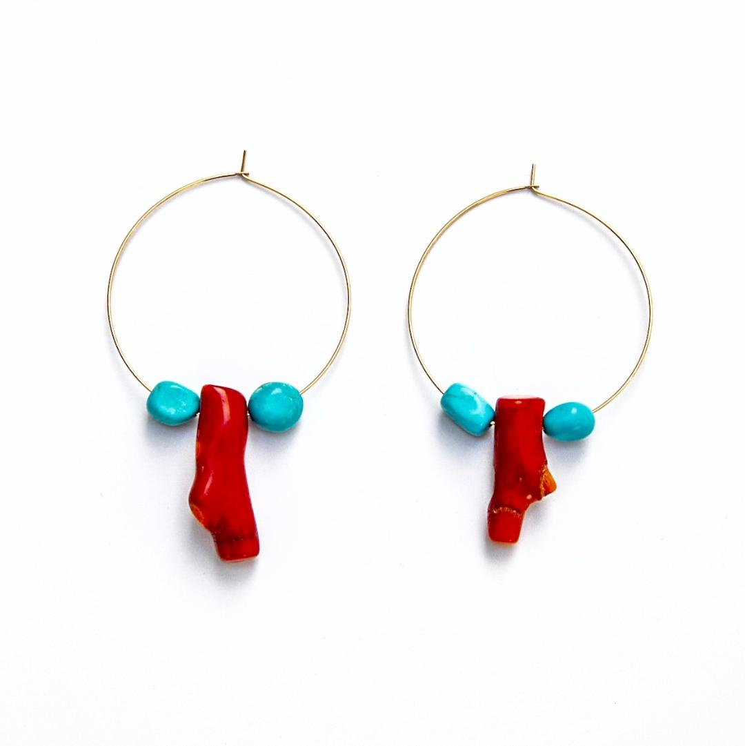 'Tis The Sea-Sun Hoop Earrings