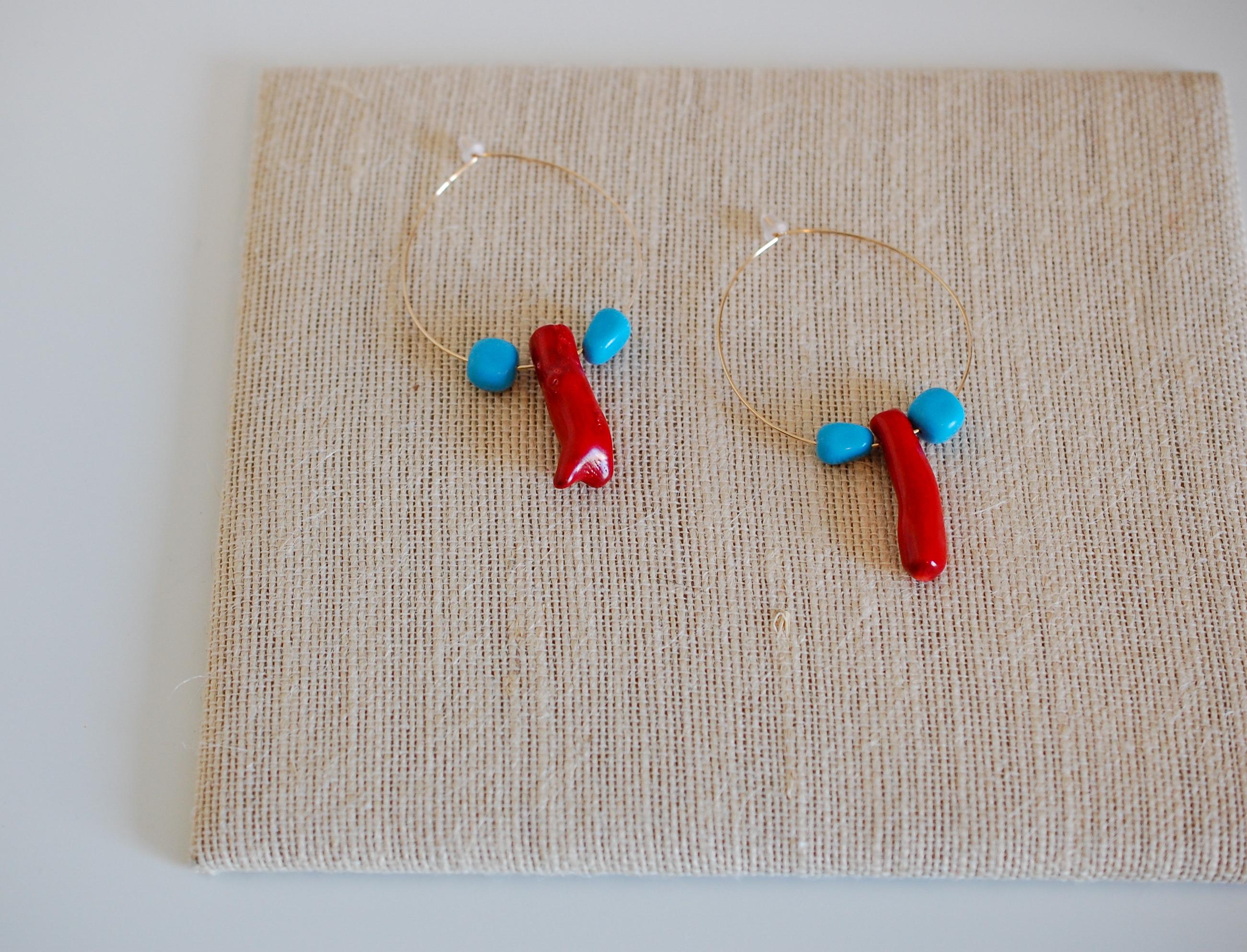 'Tis The Sea-Sun Hoop Earrings
