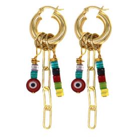 Chasing Rainbows Hoop Earrings