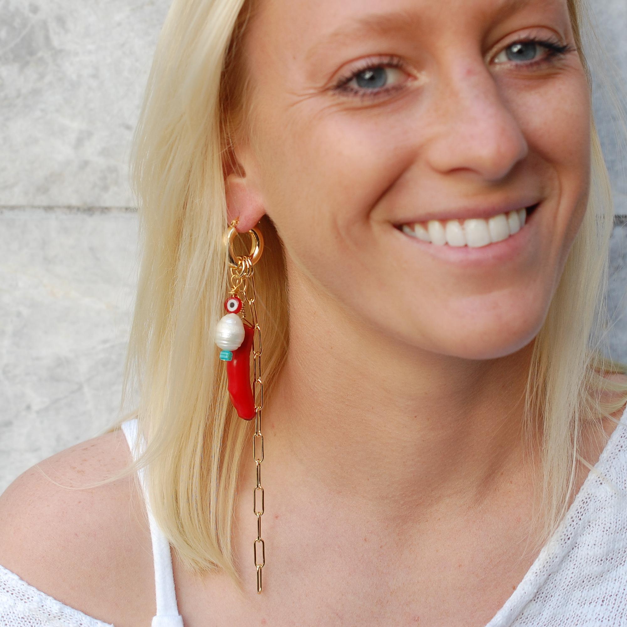 Lucky Charms Hoop Earrings