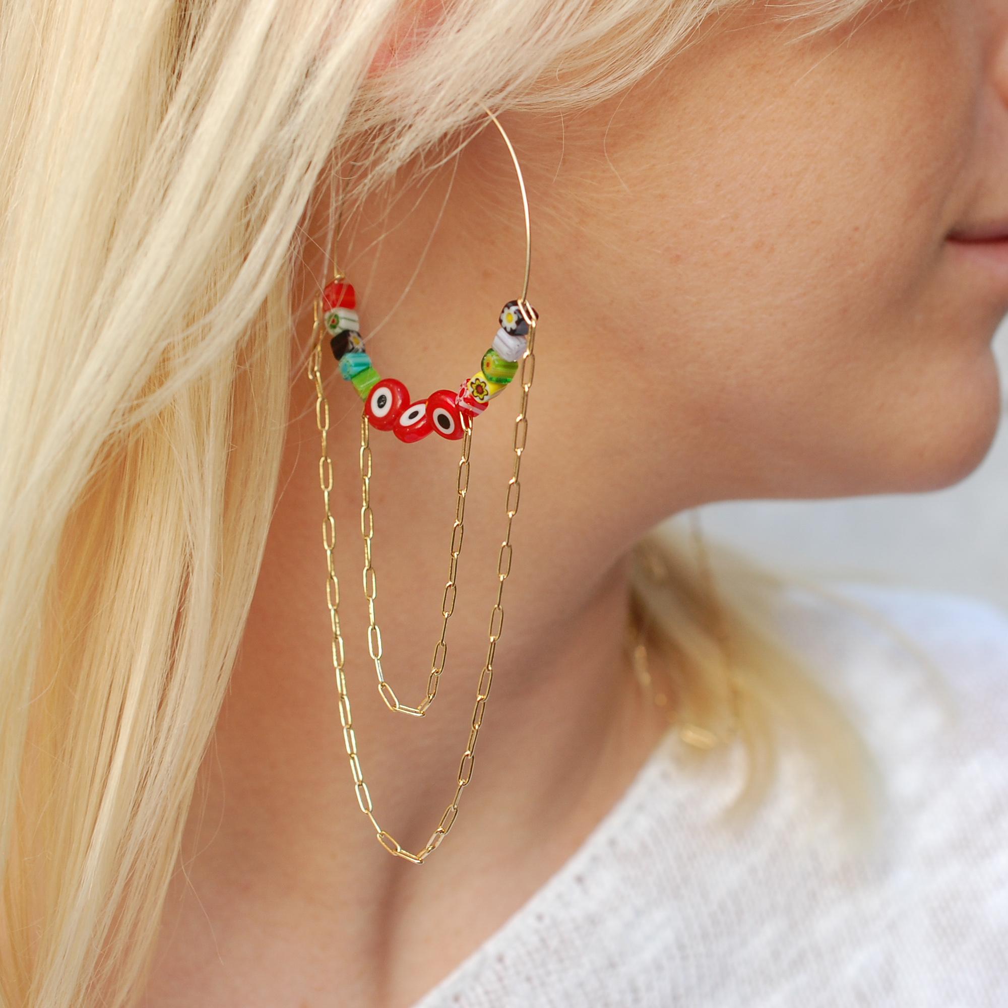 Sunshine & Rainbows Hoop Earrings