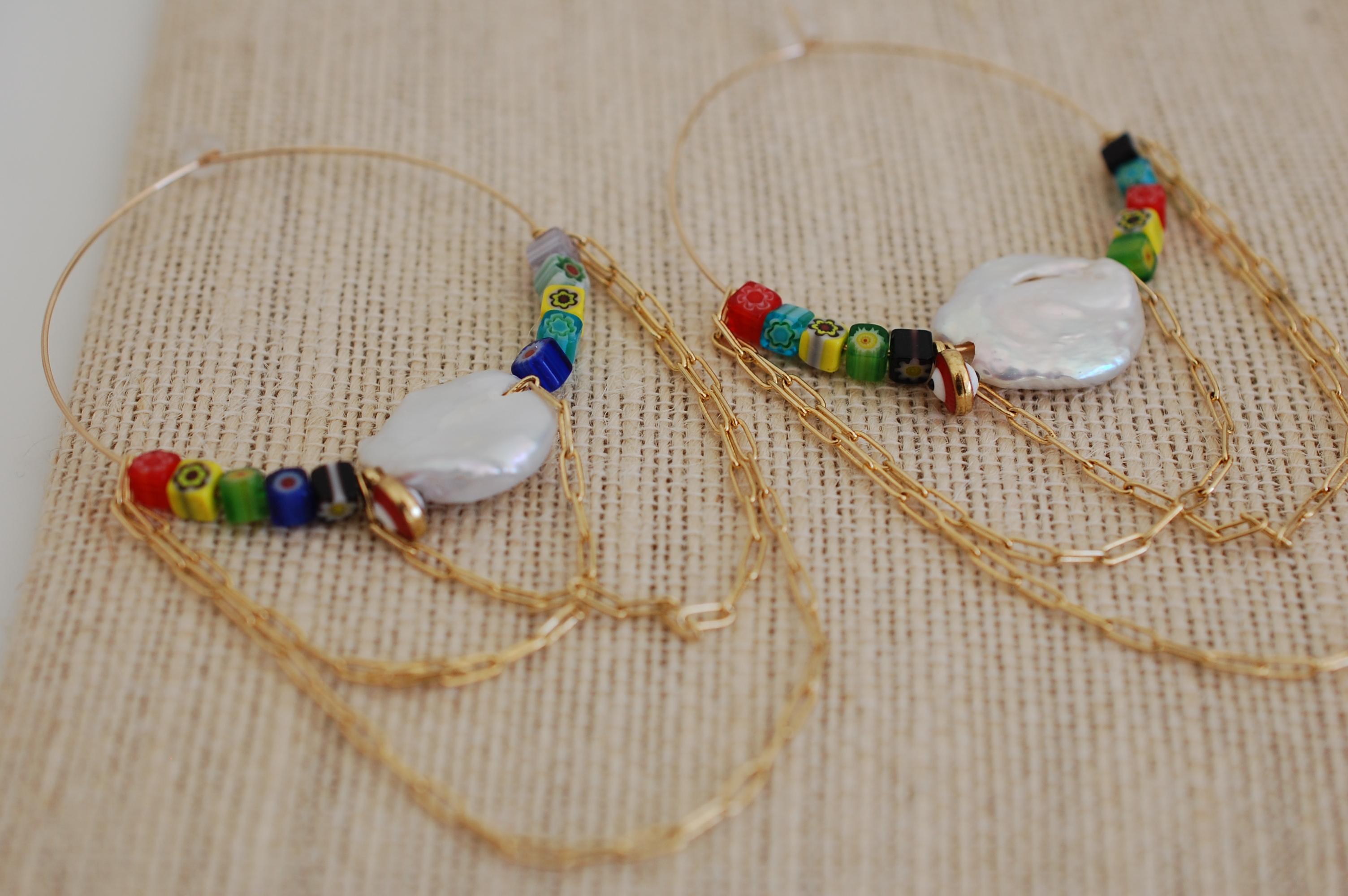 Peace Love & Rainbow Hoop Earrings