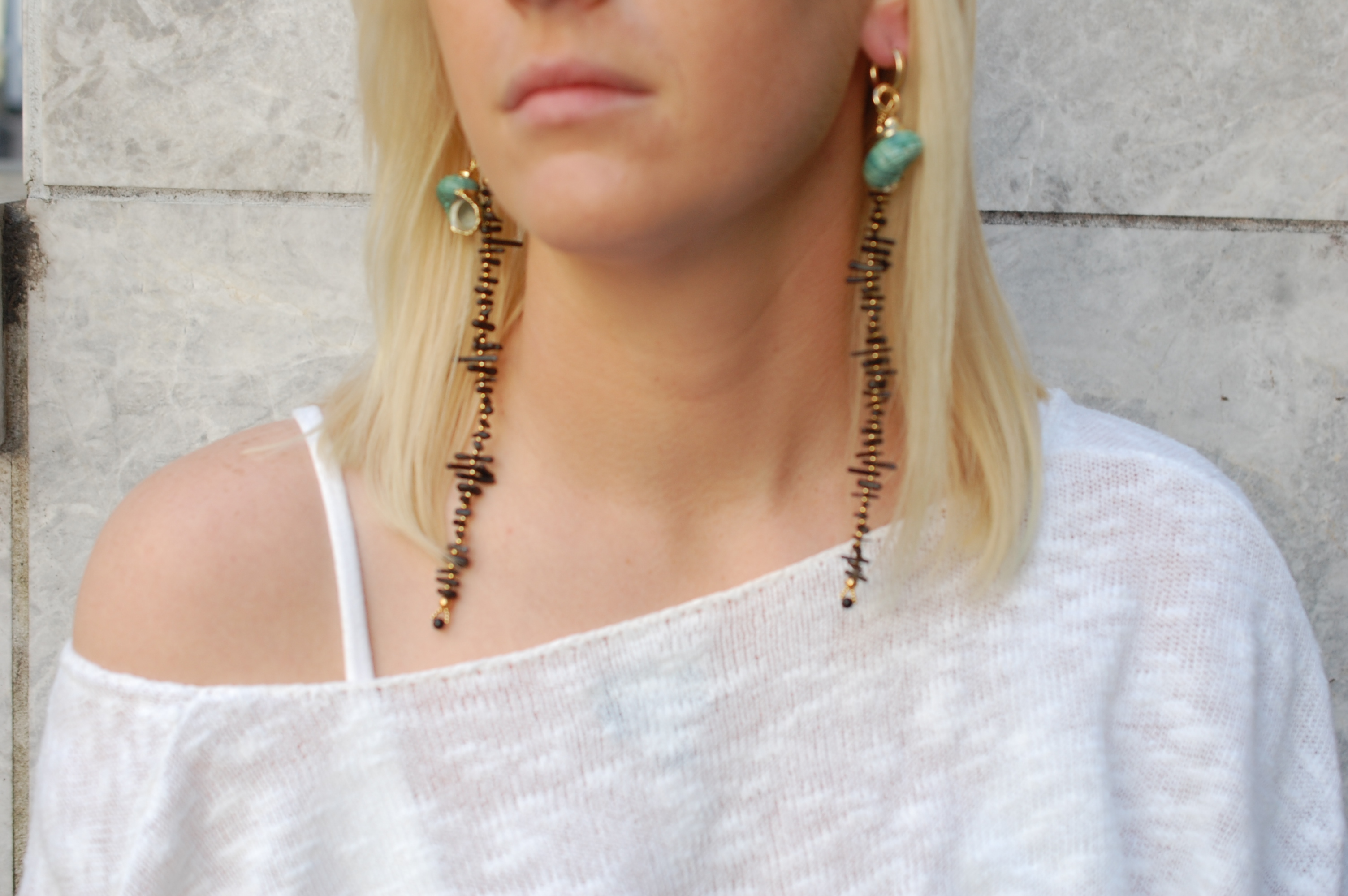 Coral Me Crazy With Shell Huggie Earrings