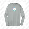 Fogo Lax Academy Sport-Tek® PosiCharge® Silver Long Sleeve Tee - YOUTH