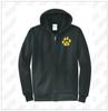 Oquenock Port & Company® Core Fleece Full-Zip Hooded Sweatshirt - Black