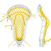 String King Mark 2 Midfield White w/Yellow Mesh Pocket