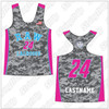R.A.W. Lacrosse Girls Sublimated Racerback Reversible Jersey
