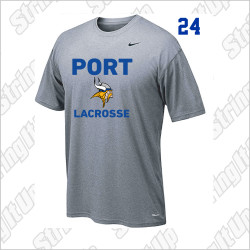 Port Washington Lacrosse Nike Legend Dri-Fit Vikings Tee - GREY