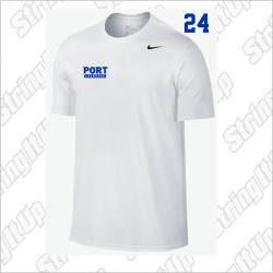 Port Washington Lacrosse Nike Legend Dri-Fit PORT Tee - WHITE