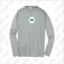 Fogo Lax Academy Sport-Tek® PosiCharge® Silver Long Sleeve Tee - YOUTH