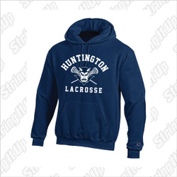 Huntington Lax Adult Champion Eco-Fleece Pullover Hooded Sweatshirt