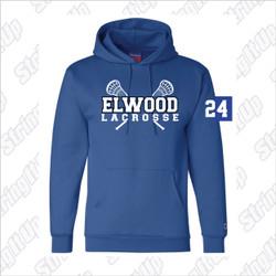 Elwood Lax Adult Champion Eco-Fleece Pullover Hooded Sweatshirt