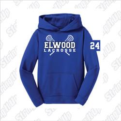 Elwood Lax Youth Sport-Tek® Sport-Wick® Fleece Hooded Pullover