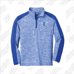Elwood Lax Youth Sport-Tek ® PosiCharge ® Electric Heather Colorblock 1/4-Zip Pullover