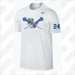 Port Washington Girls Lacrosse Nike Legend Dri-Fit Short Sleeve Tee - WHITE