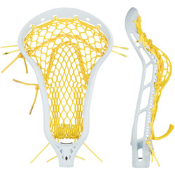 String King Mark 2 Offense White w/Yellow Mesh Pocket