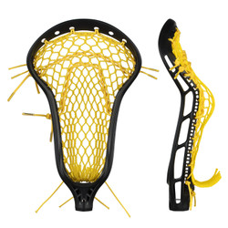 String King Mark 2 Midfield Black w/Yellow Mesh Pocket