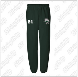 NEW ITEM! Harborfields Lacrosse Youth JERZEES - NuBlend® Youth Sweatpants - Forest Green