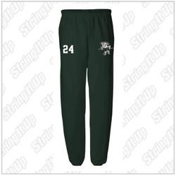 NEW ITEM! Harborfields Lacrosse Adult JERZEES - NuBlend® Sweatpants - Forest Green