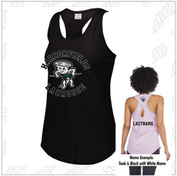 NEW ITEM! Harborfields Youth Lacrosse Girls Lux Tri-Blend Tank