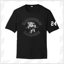 NEW ITEM! Harborfields Lacrosse Youth Sport-Tek® PosiCharge® Competitor™ Tee - Black