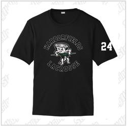 NEW ITEM! Harborfields Lacrosse  Adult Sport-Tek® PosiCharge® Competitor™ Tee - Black
