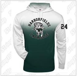 NEW ITEM! Harborfields Lacrosse Adult Ombre Badger Hoodie