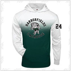 NEW ITEM! Harborfields Lacrosse Youth Ombre Badger Hoodie