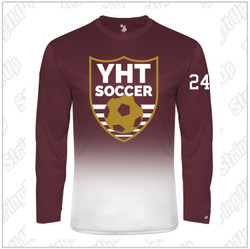 YHT Soccer Youth Badger Sport Ombre Long Sleeve