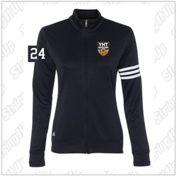 YHT Soccer Adult Adidas - Women's ClimaLite 3-Stripes French Terry Full-Zip Jacket