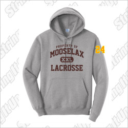 MooseLax Adult Port & Company® Core Fleece Pullover Hooded Sweatshirt