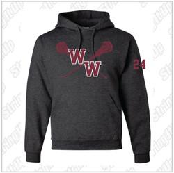 Walt Whitman Girls Lacrosse JERZEES - Super Sweats NuBlend® Hooded Sweatshirt