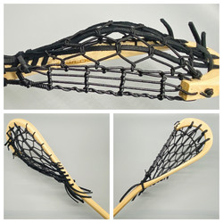 Traditional Lacrosse Junior Wooden Stick Black - 42 inches