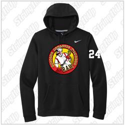 R.A.W. Lacrosse Nike Club Fleece Pullover Hoodie - Black