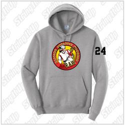 R.A.W. Lacrosse Port & Co. Hoodie Grey