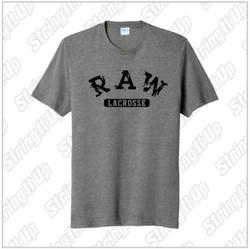 R.A.W. Lacrosse Adult Port & Company ® Fan Favorite ™ Blend Tee - Grey