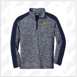 Regulators Youth Sport-Tek ® PosiCharge ® Electric Heather Colorblock 1/4-Zip Pullover