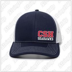 CSH Booster -  Snapback Trucker Hat - Navy/White
