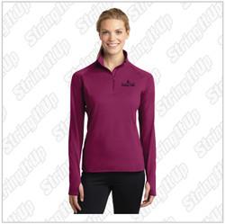 Dancin' Feet  Ladies Sport-Tek® Sport-Wick® Stretch 1/2-Zip Pullover - Pink Rush