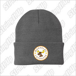 MooseLax Port & Company® - Knit Beanie - Grey
