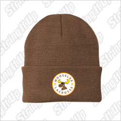 MooseLax Port & Company® - Knit Beanie - Brown