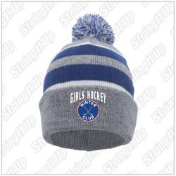 Winter Club Girls Hockey Pacific Headwear Knit Pom-Pom Beanie