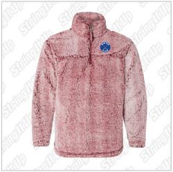 Winter Club Girls Hockey Youth Unisex Boxercraft Sherpa Fleece Quarter-Zip Pullover