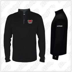 Alumni/Parents Only - Half Hollow Hills Fencing Men's Badger Sport B-Core 1/4 Zip Pullover - Black